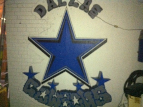 Cowboys custom painting (3/4 way)