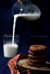 Beat the Blues cookies and Milk