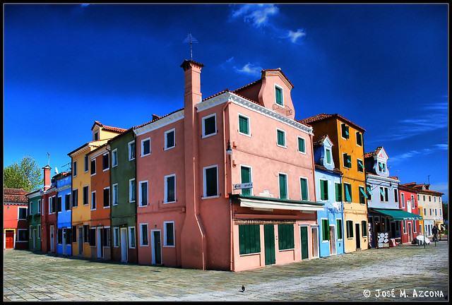 Venecia (Italia). Isla de Burano.