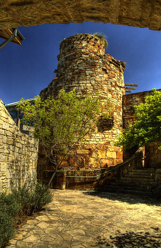 tower austin texas tx stonework cistern wildflowercenter ladybirdjohnson photomatix