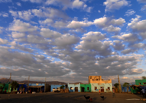 Clouds above Asaita village, Danakil, Ethiopia
