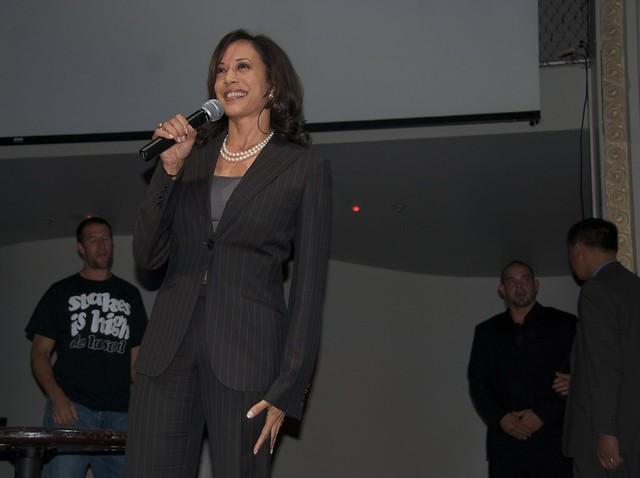 San Francisco District Attorney Kamala Harris at Obama San Francisco victory celebration at Ruby Skye