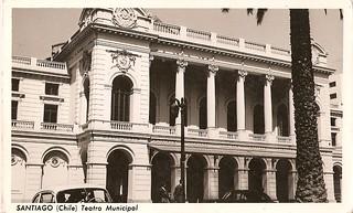 Image of Teatro Municipal de Santiago. chile santiago valparaiso calle xx edificio antigua urbana urbano antiguo siglo centrodesantiago historiadechile fotografochileno historiadesantiago fotohistorica