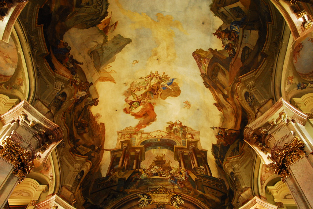 ceiling inside st. nicholaus church