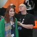Felicia getting her hair brushed by Tycho of Penny Arcade by egspoony