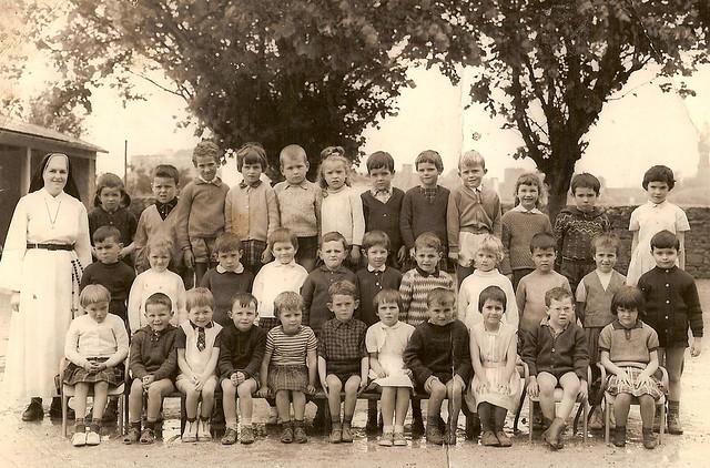 Roscoff - Ecole Ange gardien - Année 1965 / 66