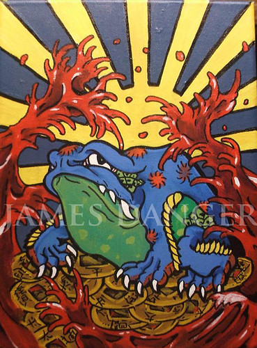 James Danger Asian frog painting