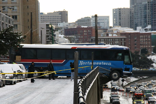 Capitol Hill Bus Accident in the Snow