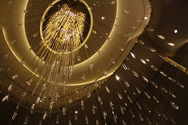 It's raining chandeliers!