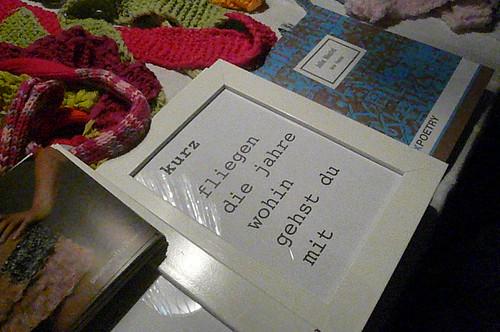 Gedicht von Julia Mantel auf dem Basar Saint Igloo 3. Dezember 2008