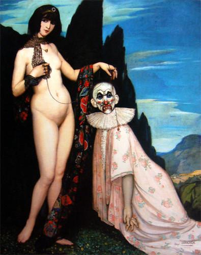 La mujer y el pelele, Ángel Zárraga 1909