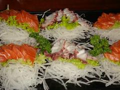 meal, sashimi, fish, food, dish, cuisine,