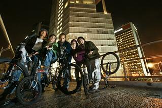 ciclistas nocturnos
