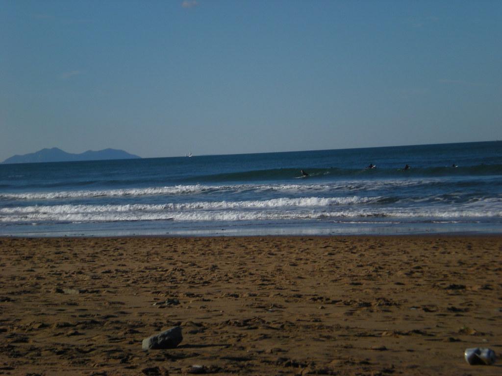 surfing in Sopelana, País Vasco