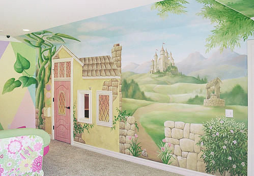 Girls playroom mural