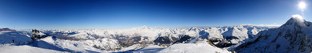 Panorama Mont Blanc from L'Aiguille Rouge