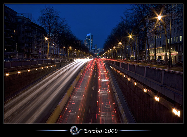 Crazy Traffic @ Brussels, Belgium :: Long Exposure (260s)