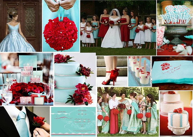 Aqua Red Wedding Theme Check out more inspiring ideas like this one at