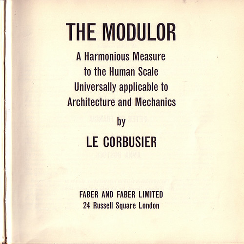 Le Corbusier's The Modulor Title Page