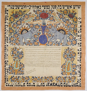 Ketubbah (Marriage Certificate, Iran, 1902)