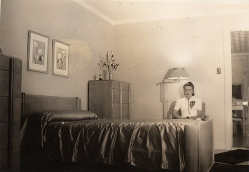 My grandmother, pondering her bedroom