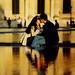 France - Paris - Louvre - Kissing Couple