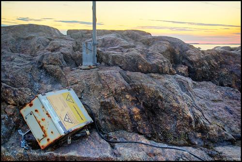 metal sunrise finland cord seaside rust rocks europe decay cliffs hdr pietarsaari weatherstation jakobstad fäboda 5ex