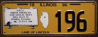N.P.C.C. 1996 11TH ANNUAL NORTH AMERICAN MEET souvenir license plate