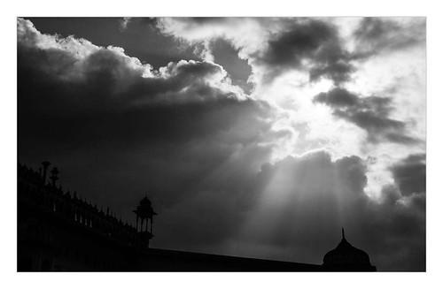 bw india monument silhouette clouds landscape charbagh lucknow lightbeam uttarpradesh badaimambara