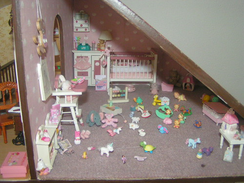 dollhouse baby playing room nursery