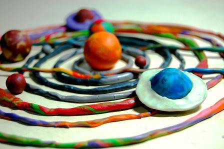 a solar system made of clay - photo #7
