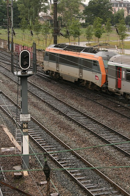 SNCF BB 26000R with Alsace TER 200 at Mulhouse-Ville