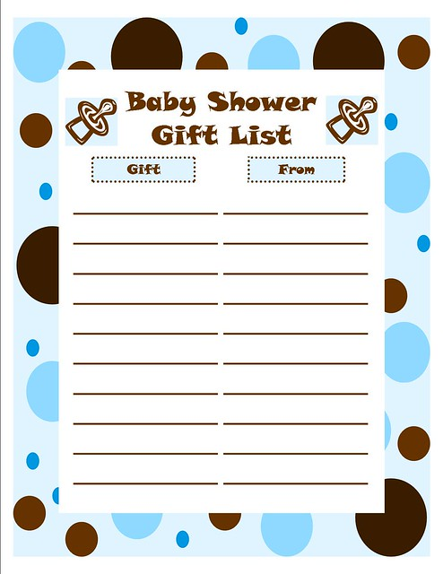 baby shower gift list templates baby shower boy gift list and the