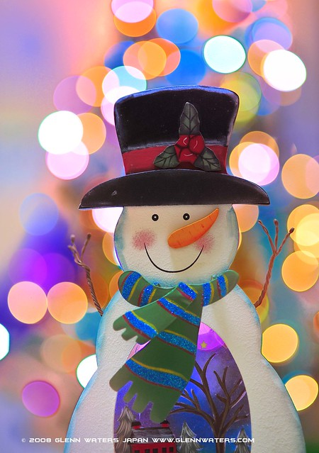 Snowman Bokeh  (Explored) 10,500 visits to this photo. Thank you.