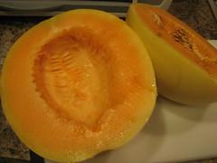 cantaloupe, honeydew, fruit, food, muskmelon, melon,