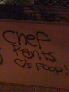 Chef Pants loves food!