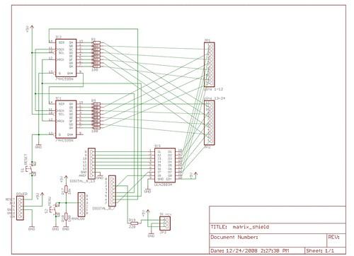 3 595 ic u0026 39 s and an 8x8 led matrix