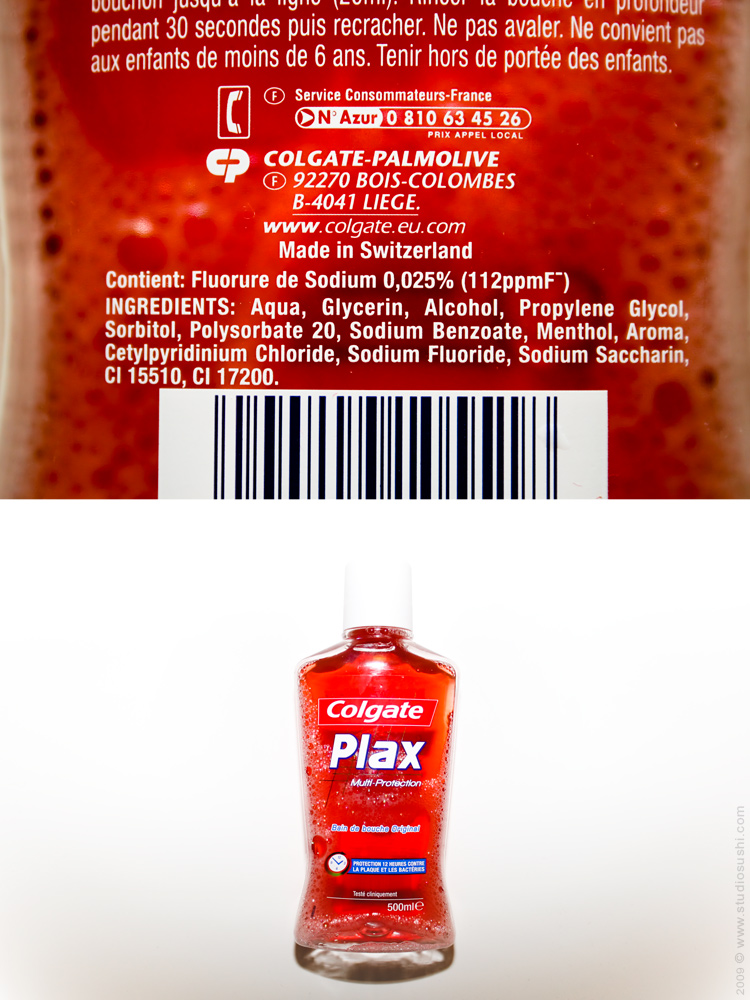 #0017 - Colgate Plax mouthwash - Made in Switzerland