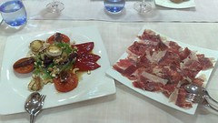 hors d'oeuvre(0.0), produce(0.0), meal(1.0), meat(1.0), salt-cured meat(1.0), food(1.0), dish(1.0), cuisine(1.0),