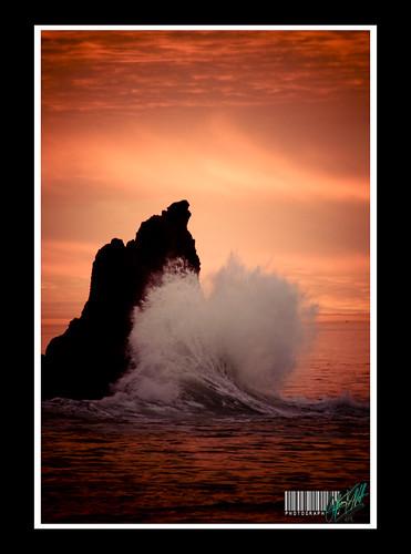 ocean orange beauty clouds sunrise gold star rocks award wave miller r anthony wispy crashing anthonyrmillerlivecom