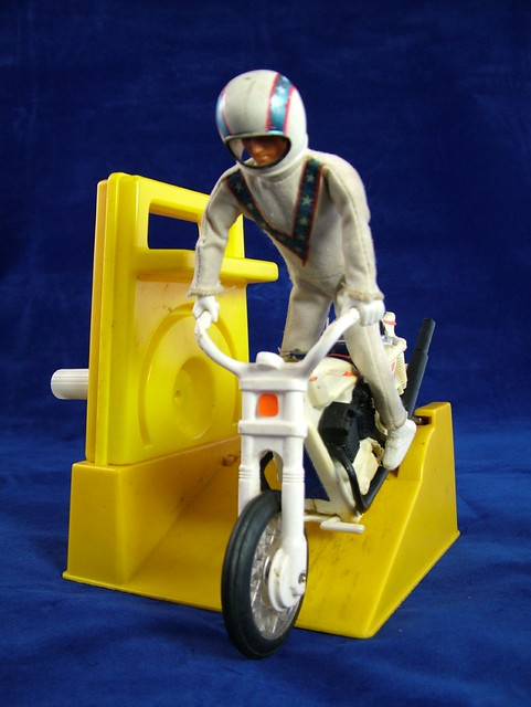 evel knievel photo of evel knievel toy on stunt cycle. Black Bedroom Furniture Sets. Home Design Ideas
