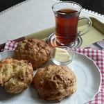 Apfel-Cheddar-Scones