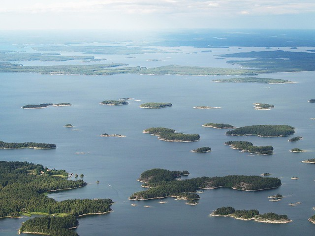 Islas de Helsinki desde el aire