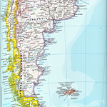 Mapa parcial América del Sur - América do Sul - South America partial map