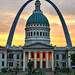 St Louis Arch and Courthouse by Kathy Osmus