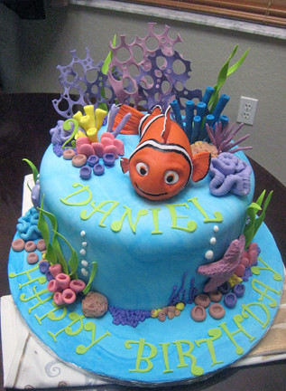 Nemo Birthday Cake A Photo On Flickriver - Nemo fish birthday cake