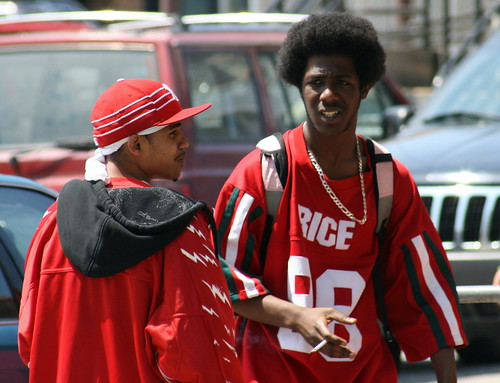 Black teenagers San Franciso street