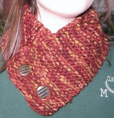 Button Scarf Knitting Pattern - Patterns Gallery