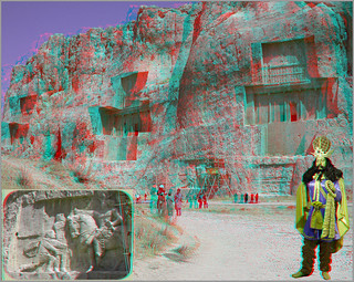 Xerxes Tomb_Anaglyph 3D : You need Red/Cyan glasses