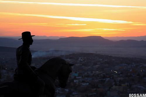 sunset sculpture horse canon landscape mexico caballo rebel angeles hill escultura militar zacatecas soe felipe xsi bufa 450d platinumphoto anawesomeshot goldstaraward generalfelipeangeles batalladezacatecas